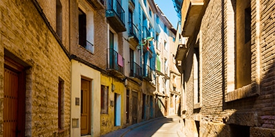 Típicas calles estrechas de Borja