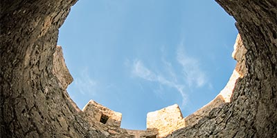 Torre del Castillo de Peñaranda de Duero desde su interior