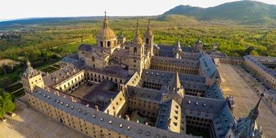 Vista aérea del Monasterio de San Lorenzo de El Escorial