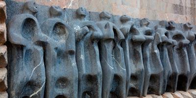 Detalle de la fachada principal del Santuario de Arantzazu
