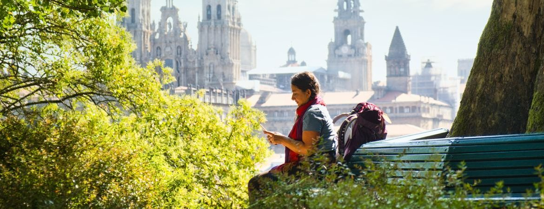 peregrina en primer Camino de Santiago