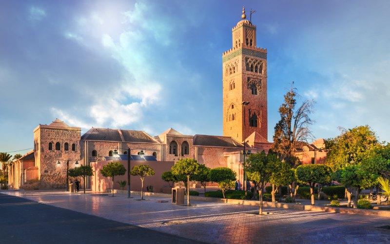 Mezquita de la Koutoubia, edificio que sirvió de referencia para la Giralda de Sevilla