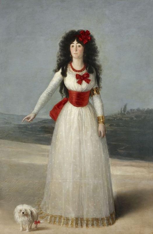 La duquesa de Alba de Francisco de Goya