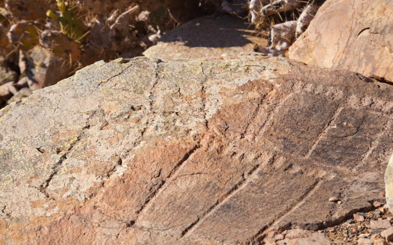 Grabados podomorfos en montaña Tindaya