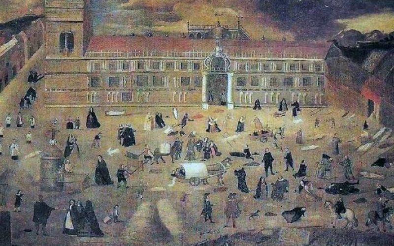 Gran Peste de Sevilla, cuadro anónimo
