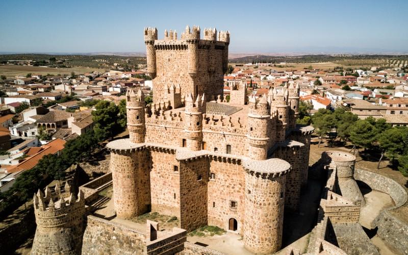 Vista aérea del castillo, Guadamur