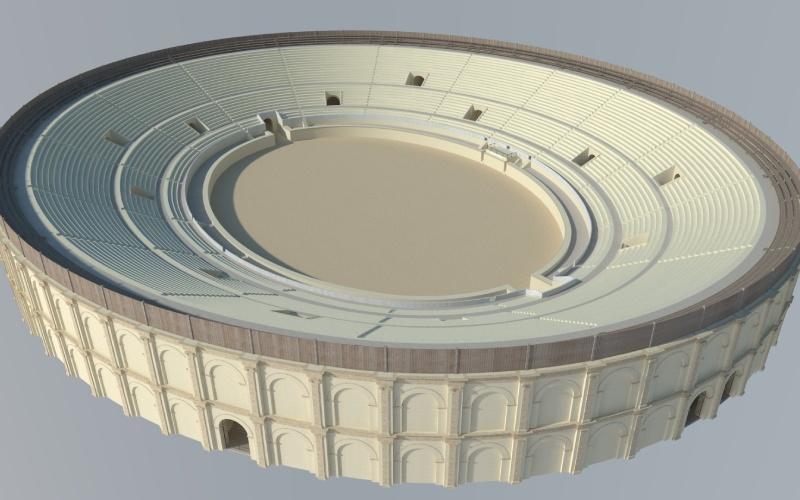 Hipótesis virtual reconstructiva del anfiteatro