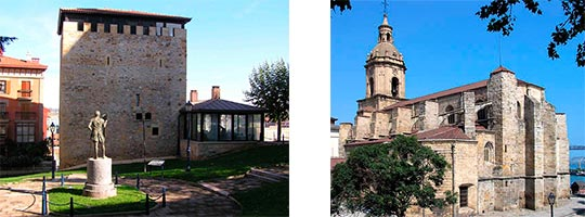 torre e iglesia de Portugalete - Banderizo - España Fascinante