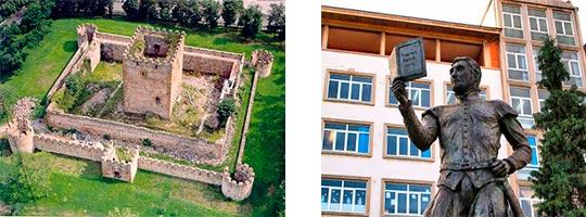 Castillo Muñatones, estatua banderizo Lope Garcia de Salazar