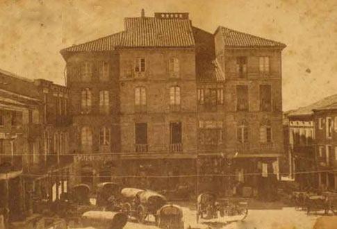 Fotografía antigua de la Plaza Mayor de Sahagún