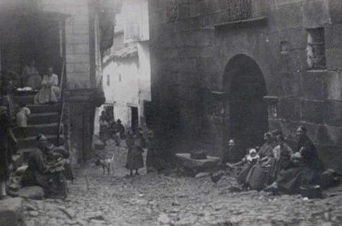 Lugareñas en Miranda del Castañar fotografía antigua