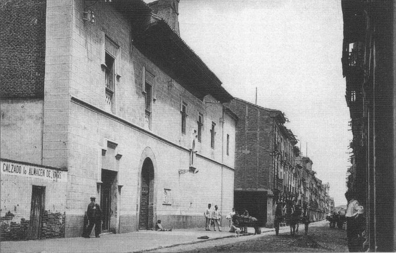 Antigua imagen del hospital de Antezana en Alcalá de Henares