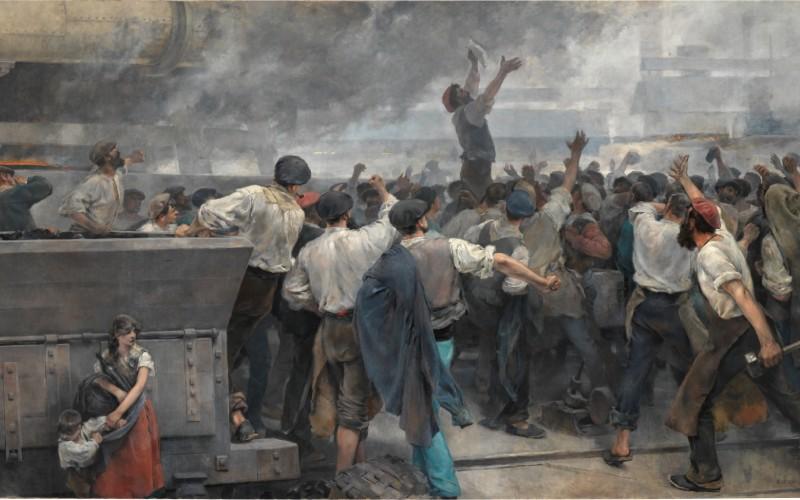 Fotografía de Una huelga de obreros en Vizcaya