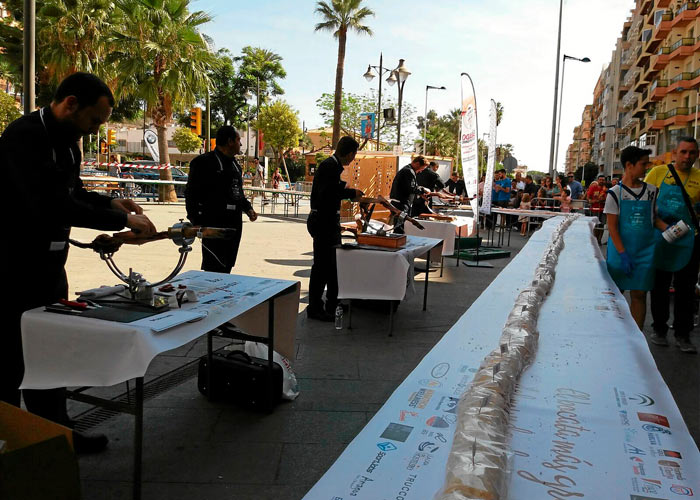 record guinness mayor bocadillo jamon huelva