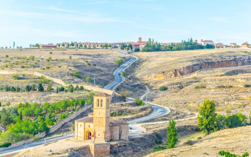Plano de la Iglesia de la Vera Cruz junto a la carretera