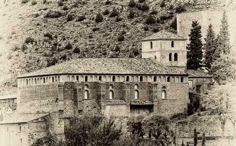 antigua foto de la Iglesia de Santa María en Albarracín