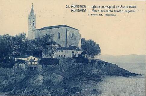 foto antigua iglesia mundaka