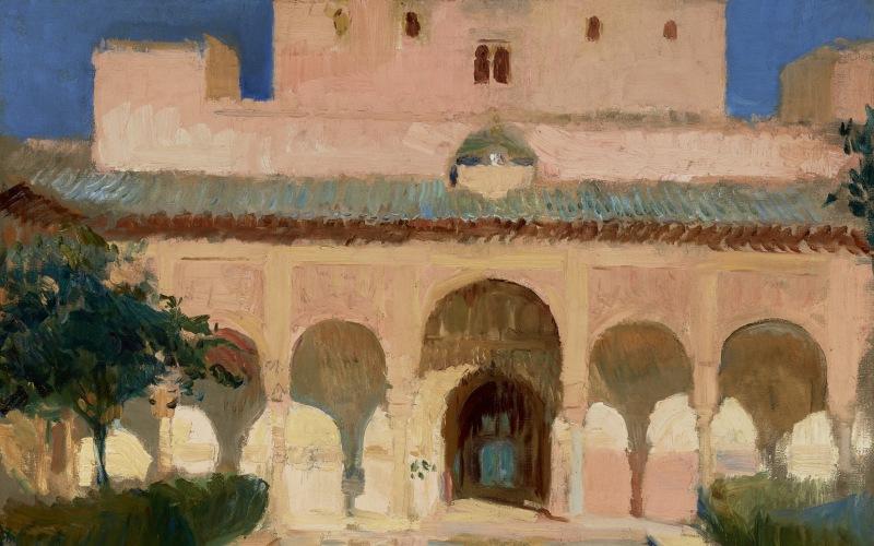 Ilustración de la Alhambra, obra de Sorolla