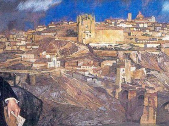 Calma en la Toledo de Zuloaga | Cuadros con vida 1