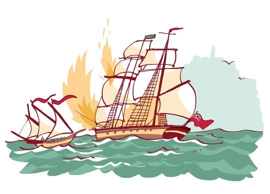 historias de baleares duelo de piratas