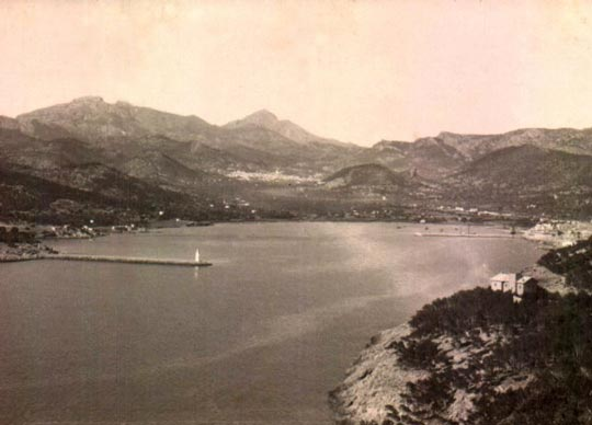 Imagen antigua puerto Andratx