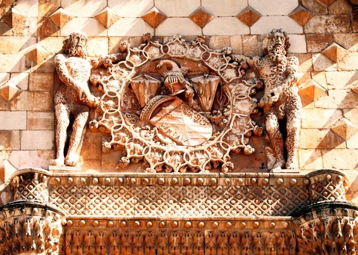 Detalle del Palacio del Infantado en Guadalajara