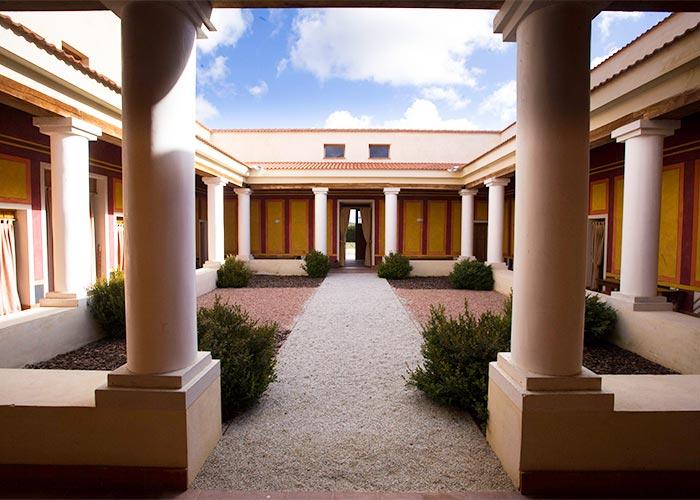 Recreación de la Villa Romana de Almenara-Puras