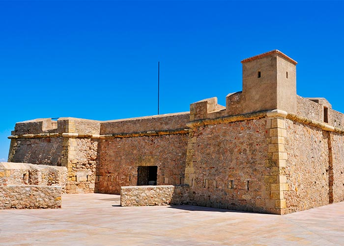 castillo san jorge ametlla mar