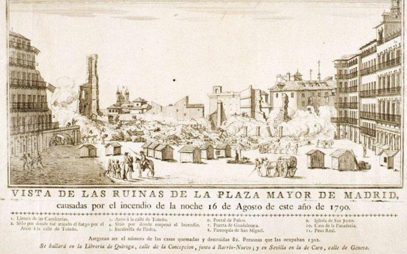 Vista de las ruinas de la Plaza Mayor de Madrid