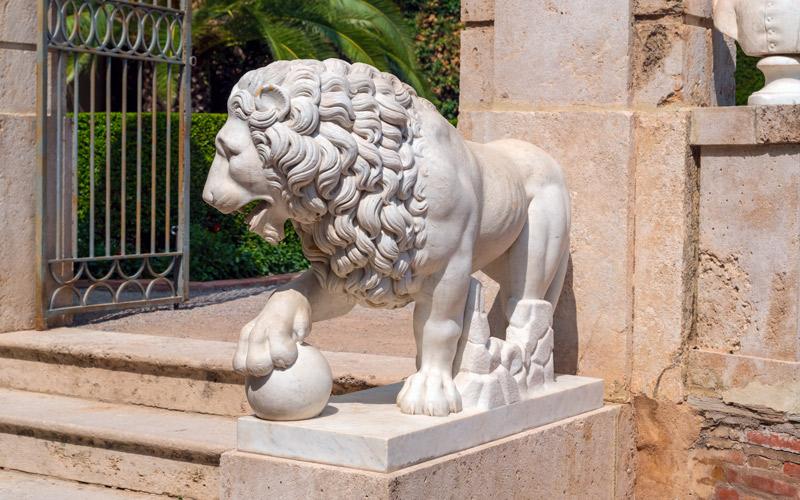 León en el Jardín de Monforte, Valencia