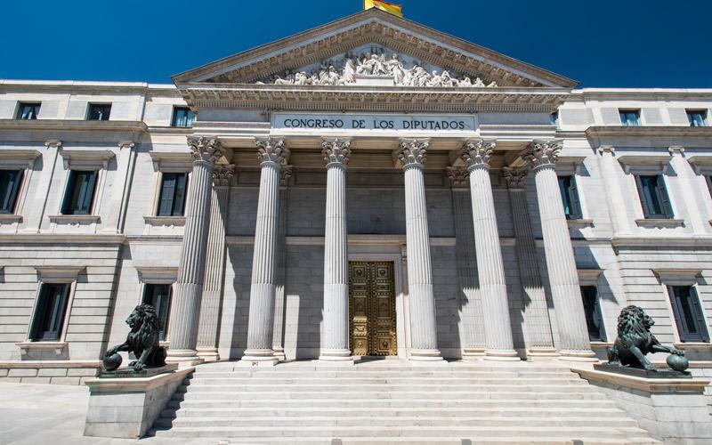 Escalinata del Congreso con los leones