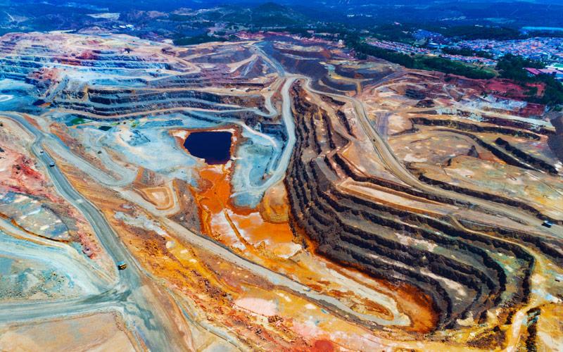 Minas de cobre en Río Tinto