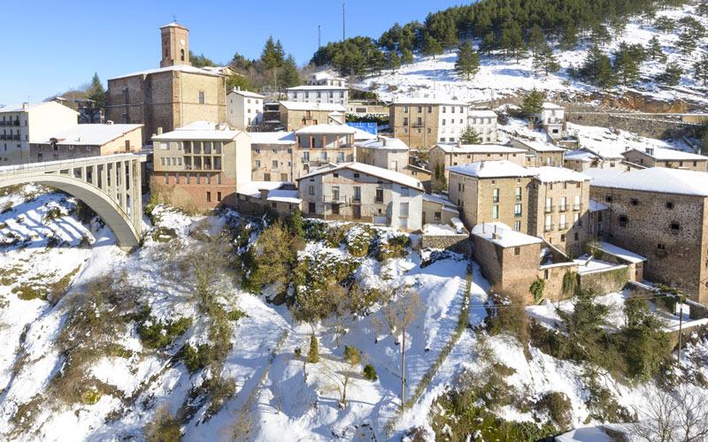 Ortigosa de Cameros nevado