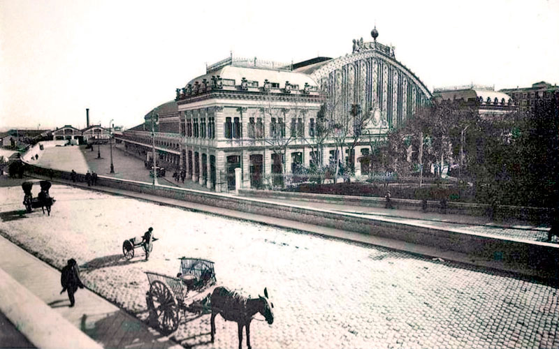 Madrid antiguo: Estación de Atocha en 1929