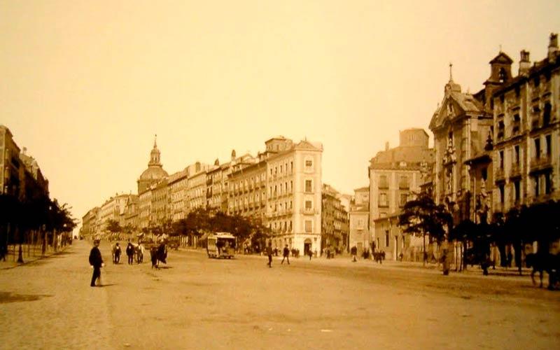 Madrid antiguo: la Calle Alcalá a principios del siglo XX
