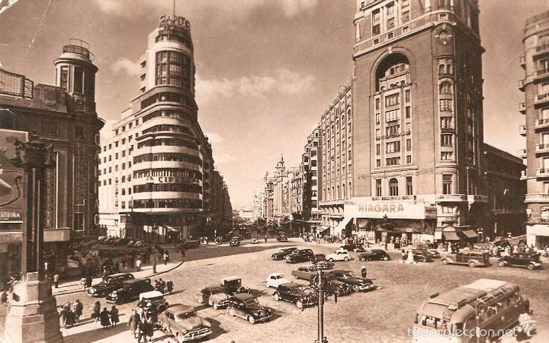Madrid antiguo: Plaza de Callao en 1957