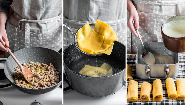 receta canelones valenciana