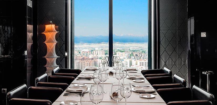 restaurantes con vistas eurostars madrid