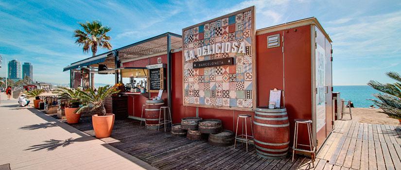 terrazas barcelona chiringuito deliciosa