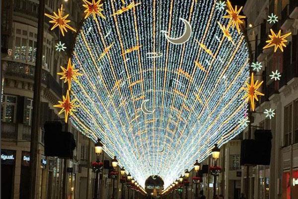 Malaga centro calle larios navidad