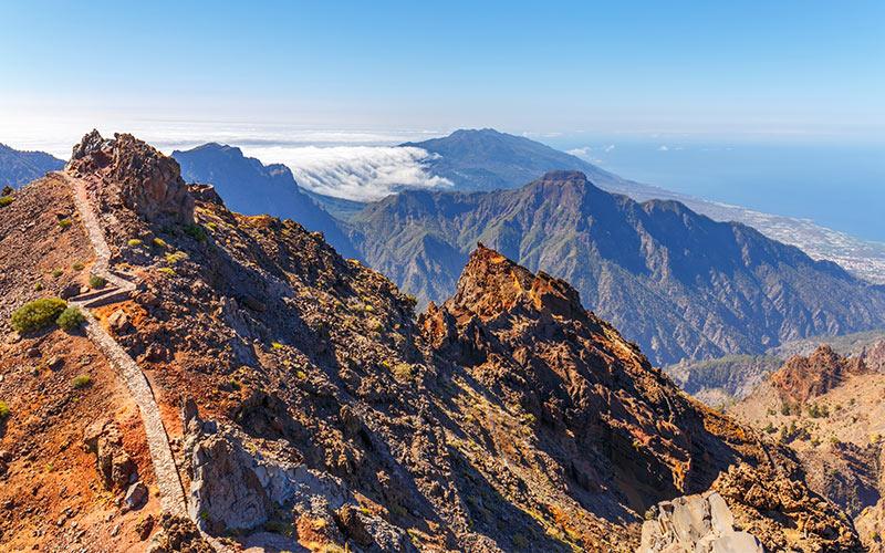 Parque Natural Caldera de Taburiente, vista desde Roque de los Muchachos
