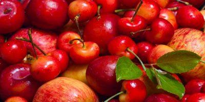 cereza manzanas