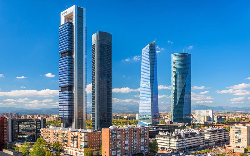 Edificio más alto de España Cuatro Torres