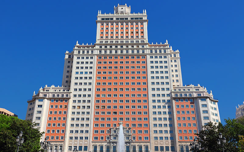 Edificio más alto de España. Edificio España