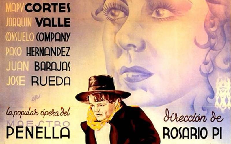 """Cartel de """"El gato montés"""", primera película dirigida por la pionera del cine español Rosario Pi"""