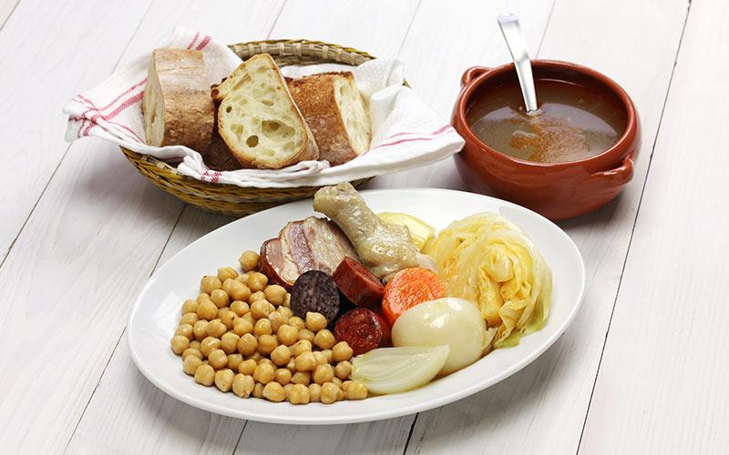 Platos típicos del invierno. Cocido madrileño