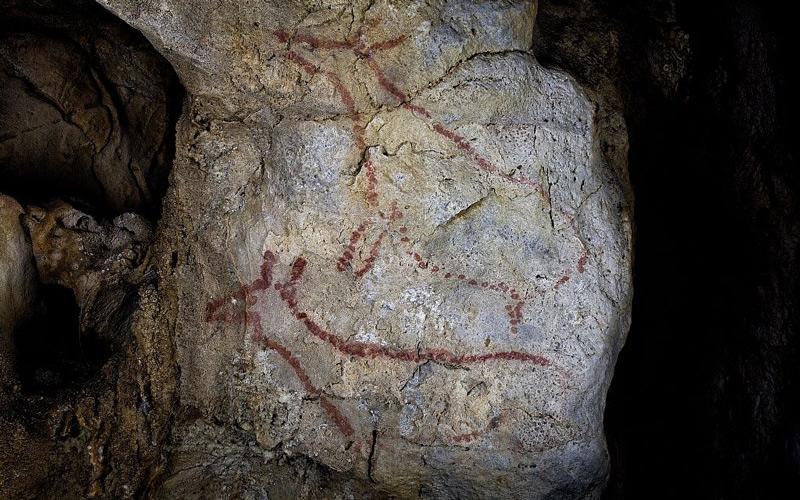Pinturas rupestres en la cueva de Covalanas
