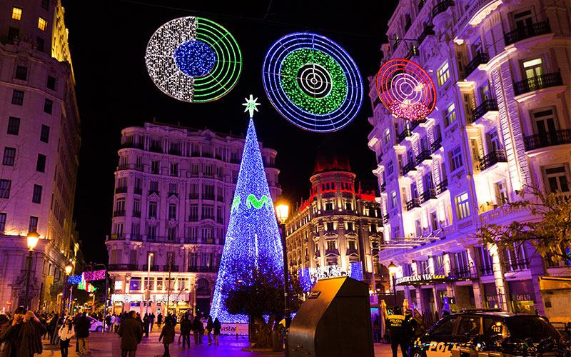 ciudades de España con más luces de navidad: Madrid