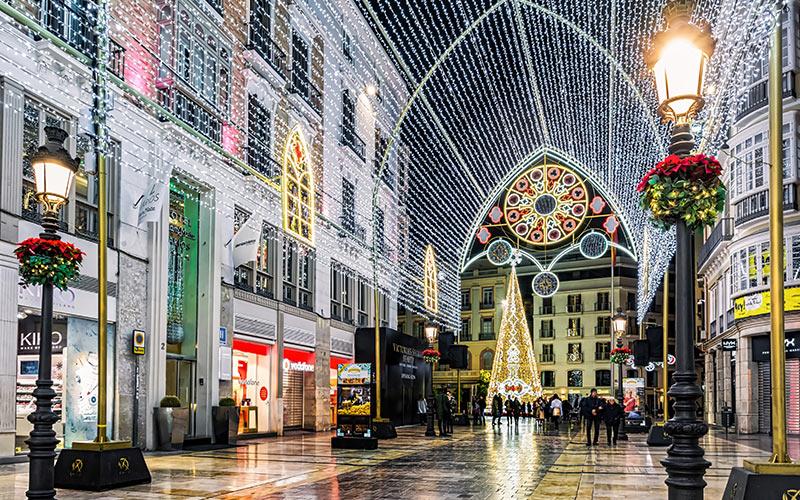 ciudades de España con más luces de navidad: Málaga