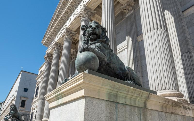Los leones del Congreso de los Diputados
